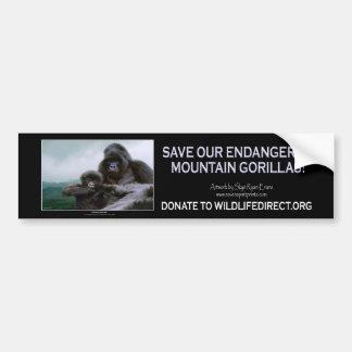 Colección del gorila de montaña de Kunga Etiqueta De Parachoque