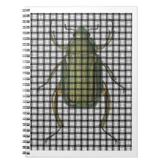 Colección del insecto - escarabajo de la armadura libreta