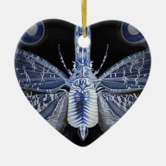 Colección del insecto - insecto de la radiografía adorno de cerámica en forma de corazón