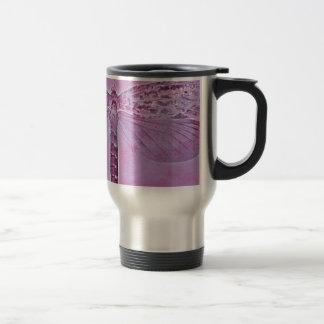 Colección del insecto - libélula púrpura taza de viaje