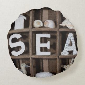 Colección del mar cojín redondo