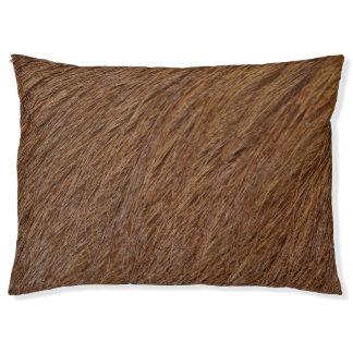 Colección del mascota - piel anaranjada roja cama para perro grande