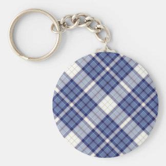 Colección del modelo de la tela escocesa de tartán llavero redondo tipo pin