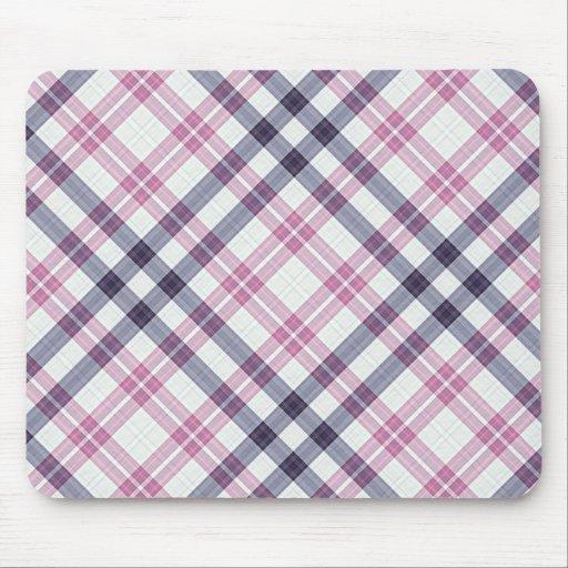 Colección del modelo de la tela escocesa de tartán mouse pad