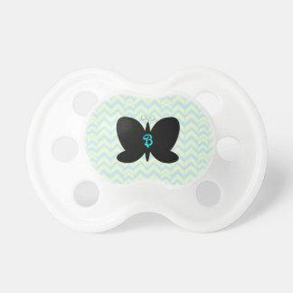 Colección del pacificador de la mariposa del monog chupetes de bebé