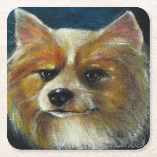 Colección del perro - práctico de costa de posavasos de cartón cuadrado