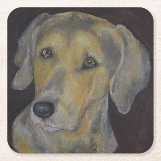 Colección del perro - práctico de costa de posavasos desechable cuadrado