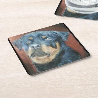 Colección del perro - práctico de costa de posavasos personalizable cuadrado