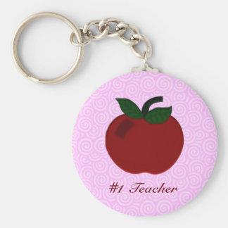 Colección del profesor de Apple Llavero Redondo Tipo Pin