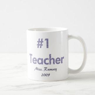 Colección del profesor de Apple Taza Básica Blanca