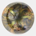 Colección del regalo del gatito del espacio del de etiquetas