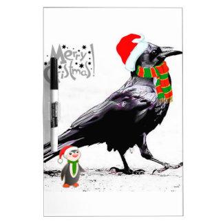 Colección del regalo del navidad del cuervo de tablero blanco