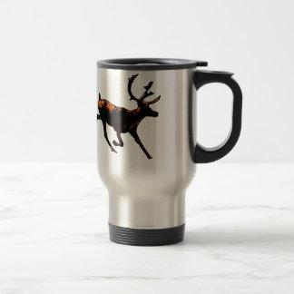 Colección del reno taza de viaje de acero inoxidable