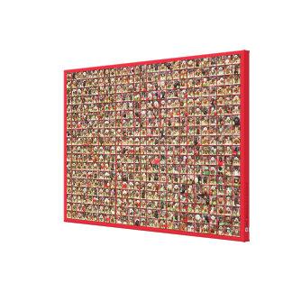 Colección del retrato de los perros del navidad impresiones de lienzo
