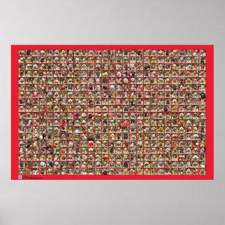 Colección del retrato de los perros del navidad posters