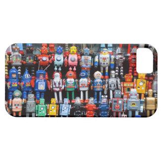 Colección del robot del juguete de la lata del hie iPhone 5 Case-Mate cobertura