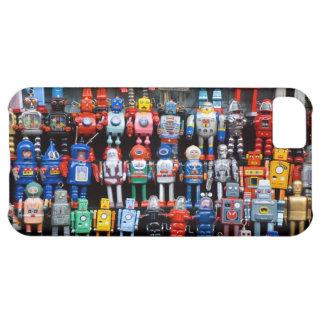 Colección del robot del juguete de la lata del hie funda para iPhone 5C