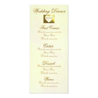 Colección del rosa amarillo del vintage del menú anuncio