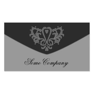 Colección del sobre del damasco plantilla de tarjeta de negocio