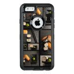 Colección del sushi en fondo negro funda otterbox para iPhone 6/6s