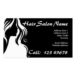 Colección del tema del negocio del salón de pelo tarjetas de visita