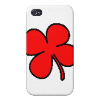 Colección del trébol rojo de Tink iPhone 4/4S Carcasa