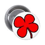 Colección del trébol rojo de Tink Pins