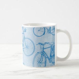 Colección del vintage de bicicletas taza de café