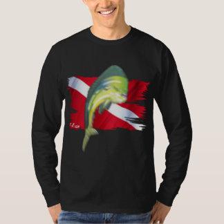 Colección descolorada de los pescados por camisas