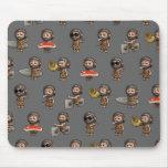 Colección divertida del hombre de las cavernas 3d alfombrilla de ratones