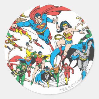 Colección estupenda 3 de Powers™ Pegatina Redonda