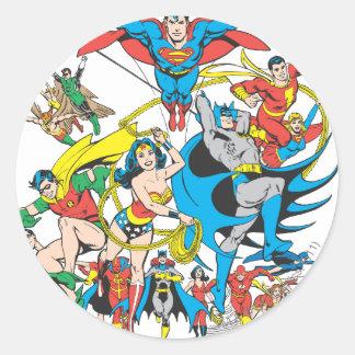 Colección estupenda 4 de Powers™ Pegatina Redonda