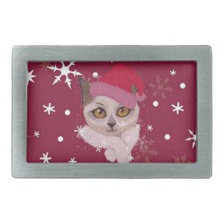 Colección feliz del navidad de Catmas Hebillas Cinturón Rectangulares