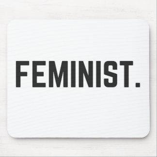 Colección feminista del texto del ejemplo del tapete de ratón