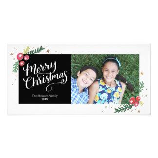 Colección festiva del follaje tarjetas fotográficas personalizadas