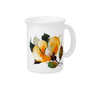 Colección floral del plato jarras