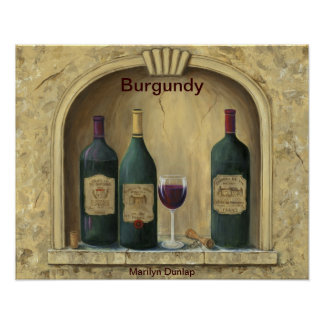 Colección francesa del vino del estado poster