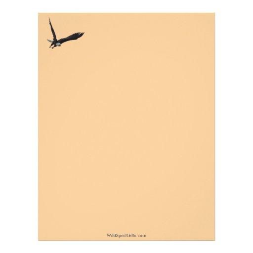 Colección fresca de la fauna de Eagle calvo Plantilla De Membrete