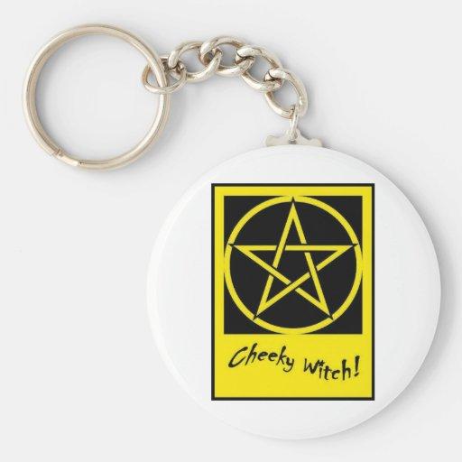 Colección fresca del Pentagram de la bruja (amaril Llaveros