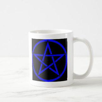 Colección fresca del Pentagram de la bruja (azul) Taza