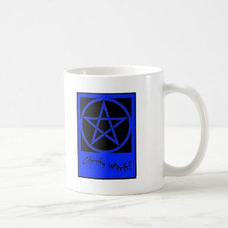 Colección fresca del Pentagram de la bruja (azul) Taza Clásica