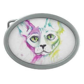 coleccion gato sphynx  pop acuarela exclusivo hebilla cinturon oval