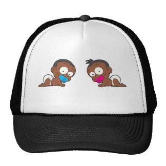Colección gemela afroamericana del muchacho y del gorra