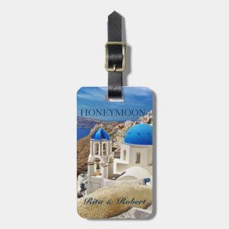 Colección/Grecia de la etiqueta del equipaje del Etiqueta Para Maleta