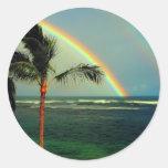 Colección hawaiana del arco iris - modificada para pegatina redonda