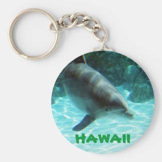 Colección hawaiana del delfín llavero redondo tipo pin