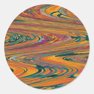 Colección II de la onda de la chispa de RGBT Etiqueta Redonda
