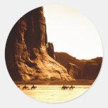 Colección india americana pegatina redonda
