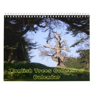 Colección inglesa de los árboles calendario