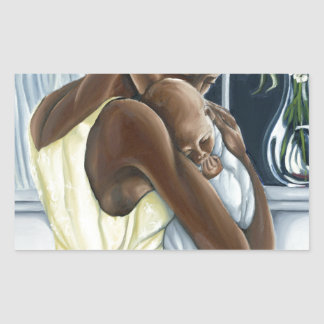 Colección instintiva del niño de la madre pegatina rectangular